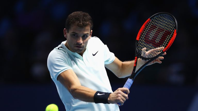 Gritty Dimitrov stuns Dominic Thiem in London