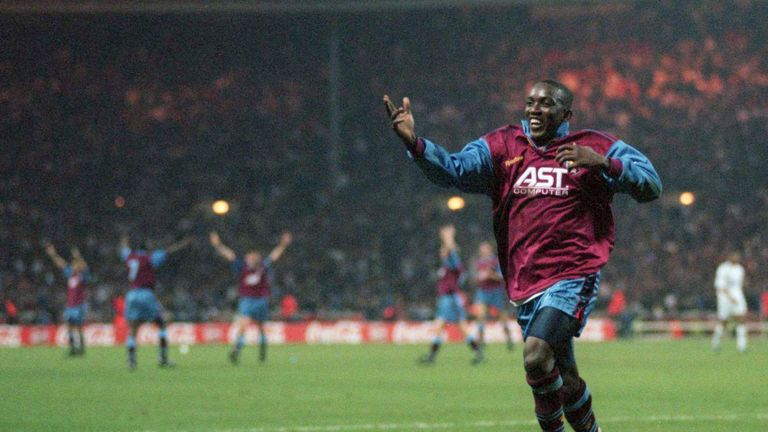 Dwight Yorke scored for Aston Villa against Leeds twice in two months in 1996