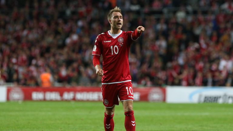 Eriksen scored a hat-trick as Denmark beat the Republic of Ireland 5-1 on aggregate in the World Cup qualifying play-offs