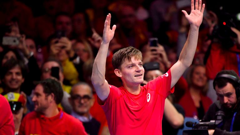 David Goffin defeated Lucas Pouille in the opening singles rubber in Lille