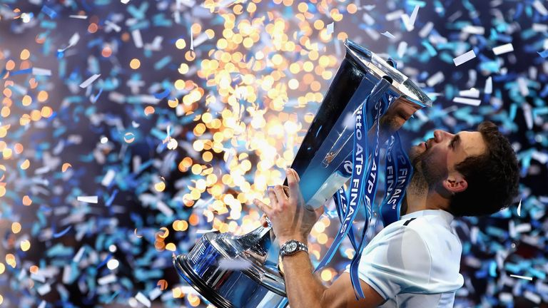 Grigor Dimitrov secured the season-ending ATP Finals with victory over David Goffin in the final