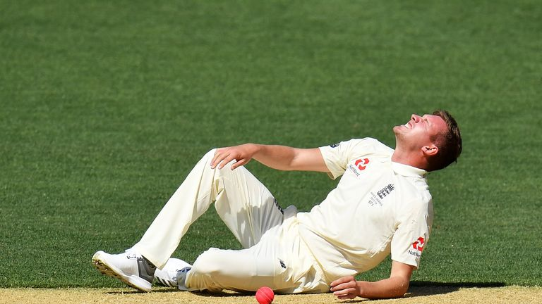 Ball was injured while bowling during day two of England's four-day tour match against a Cricket Australia XI