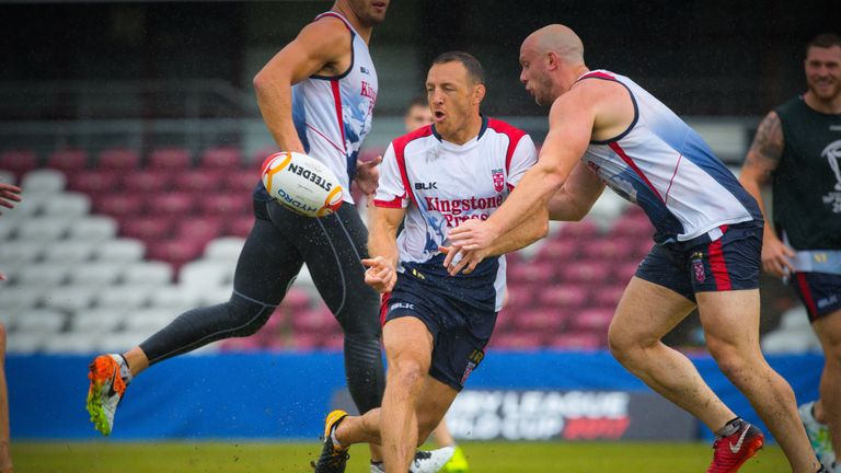 James Roby during England team training ahead of the final