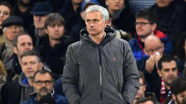 Jose Mourinho saw his team lose 1-0 at Chelsea