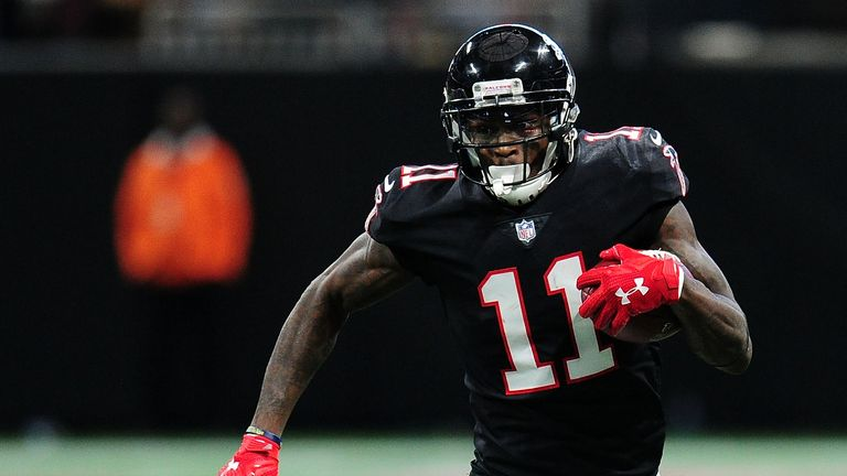Julio Jones failed to follow up his fine 253-yard display for the Falcons last week