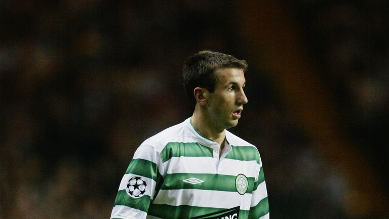 Liam Miller during his playing days with Celtic