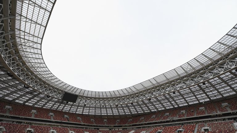 The showpiece arena of the tournament is the Luzhniki Stadium in Moscow
