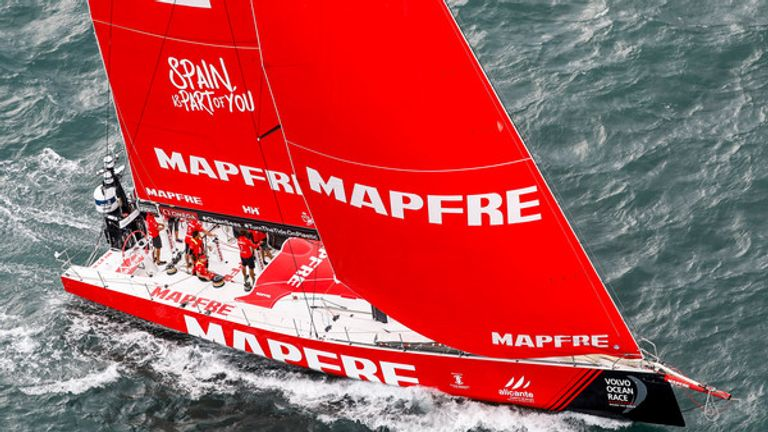 Team MAPFRE win Leg 2 from Lisbon to Cape Town