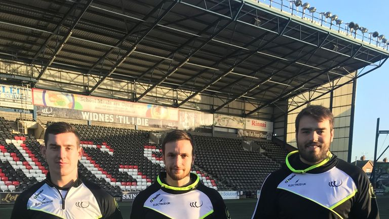 Viking stars Matt Whitley, Joe Mellor and Ted Chapelhow show their support for Rainbow Laces