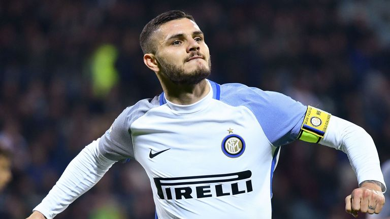 Inter Milan's Argentine forward Mauro Icardi has scored 18 league goals in Serie A so far this season