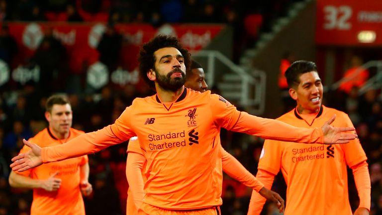 Liverpool's Mohamed Salah scored seven goals in November