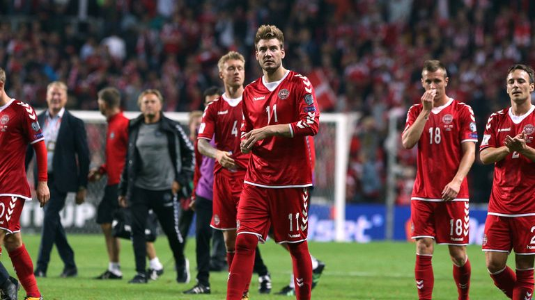 Bendtner made his Denmark return against Poland