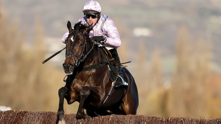 Harry Skelton riding North Hill Harvey clear the last to win The Racing Post Arkle Trophy Trial Novices' Chase