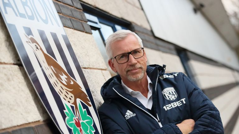 Alan Pardew will be aiming for his first win as West Brom manager on Saturday