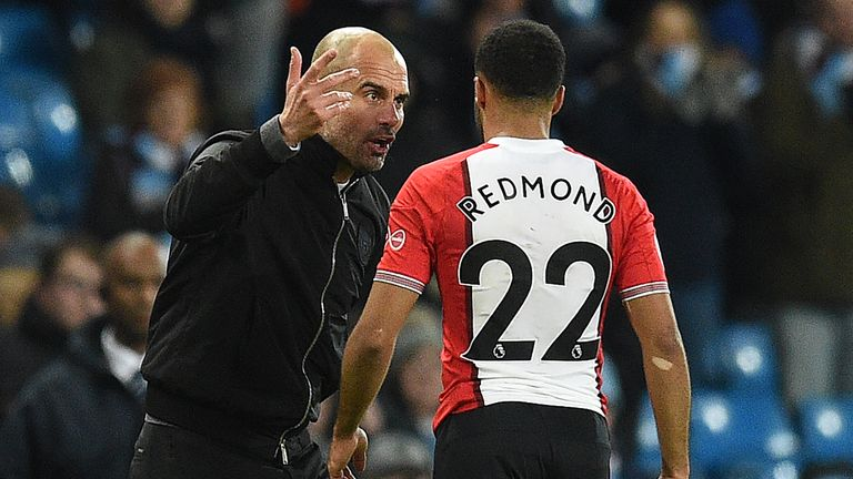 Nathan Redmond says Pep Guardiola was 'very complementary and positive' towards him
