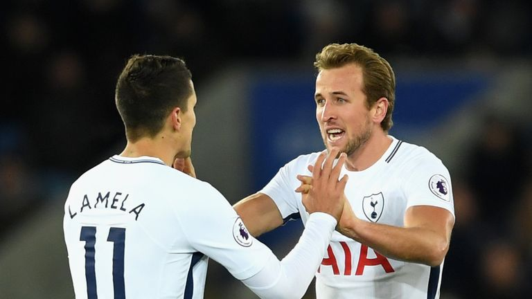 Erik Lamela assisted Harry Kane two minutes after coming on to make his first appearance since October 2016