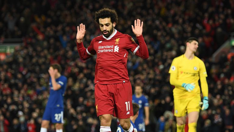 Mo Salah scored for Liverpool against former club Chelsea