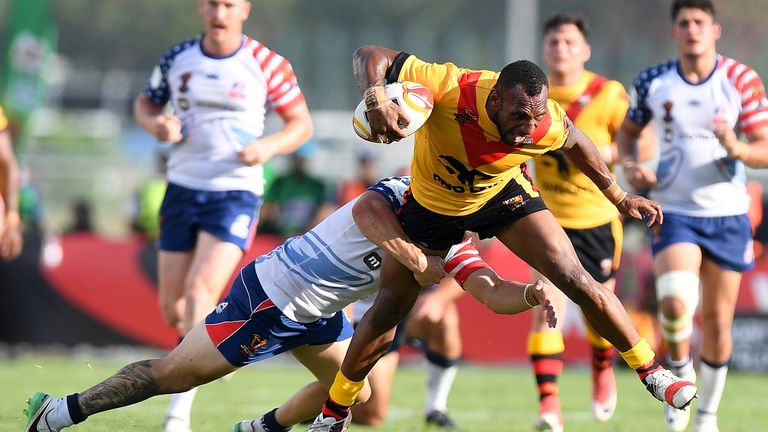 PNG won all three fixtures to finish top of Pool C