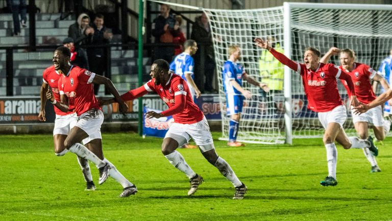 Mani Dieseruvwe struck Salford's late winner against Alfreton