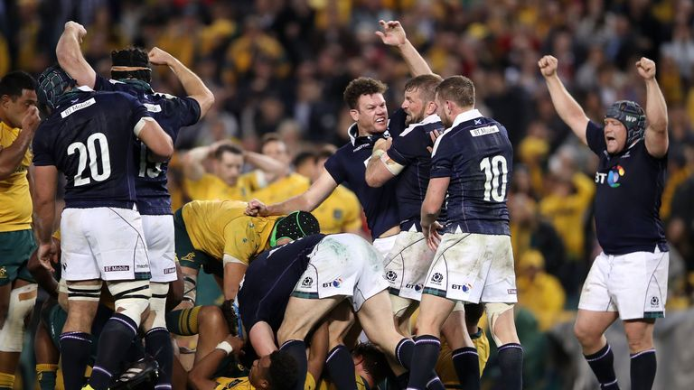Scotland beat the Wallabies 24-19 in their tour of Australia in June