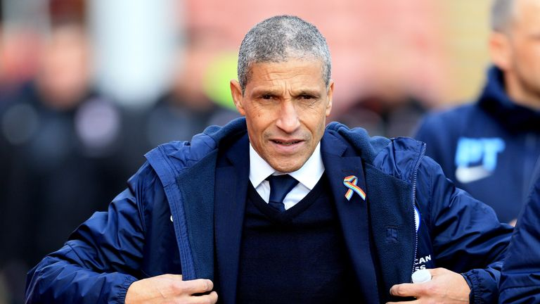 Chris Hughton has been manager of Brighton since 2014