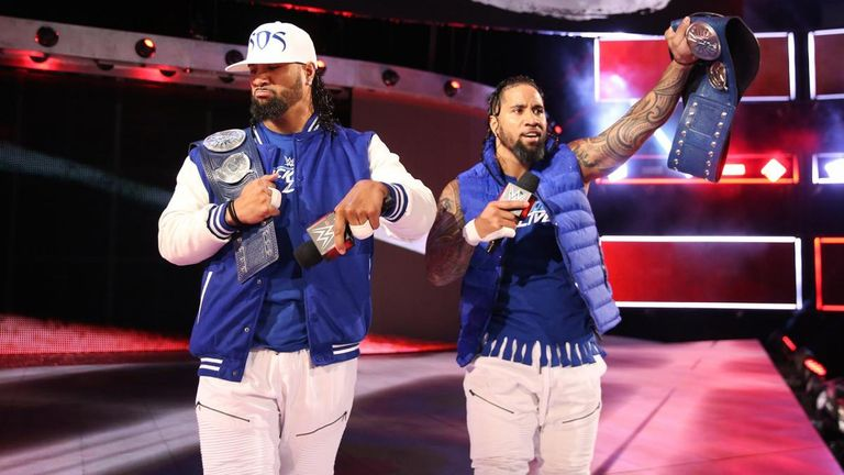 The Usos climbed to the top of the tag team division in 2017