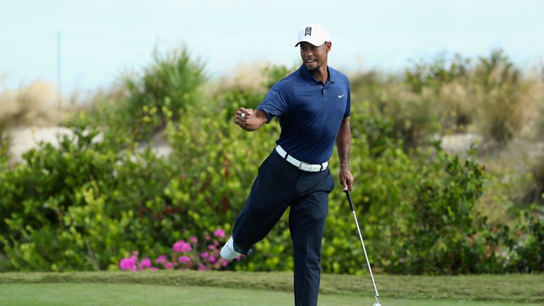 Tiger Woods shows off amiable personality ahead of latest comeback