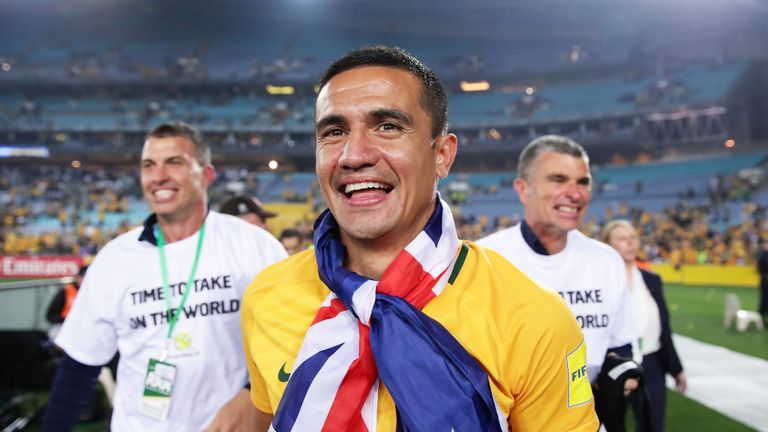 Tim Cahill helped Australia reach the 2018 World Cup