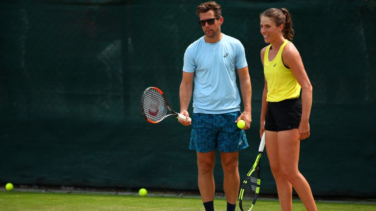 Konta parted ways with Wim Fissette after a dip in form