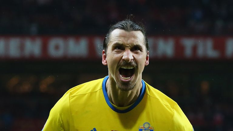 Ibrahimovic is Sweden's all-time top scorer with 62 strikes in 116 appearances
