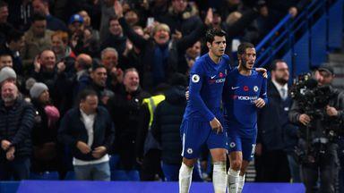 Alvaro Morata has struck up a good relationship with Eden Hazard