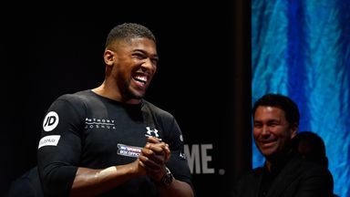 Anthony Joshua has told Eddie Hearn he is eager to face Joseph Parker in a unification fight