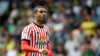 Lewis Grabban, pictured here playing for Sunderland earlier this season, has joined Aston Villa on loan