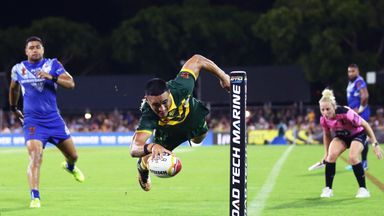 It was a game to remember for Valentine Holmes who bagged five tries
