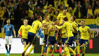 Sweden stunned Italy in the play-offs to qualify for the World Cup