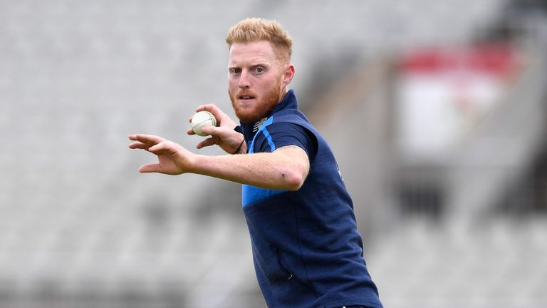 England player Ben Stokes in action during England nets session