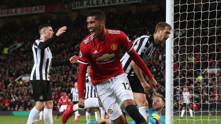 Smalling celebrates for United