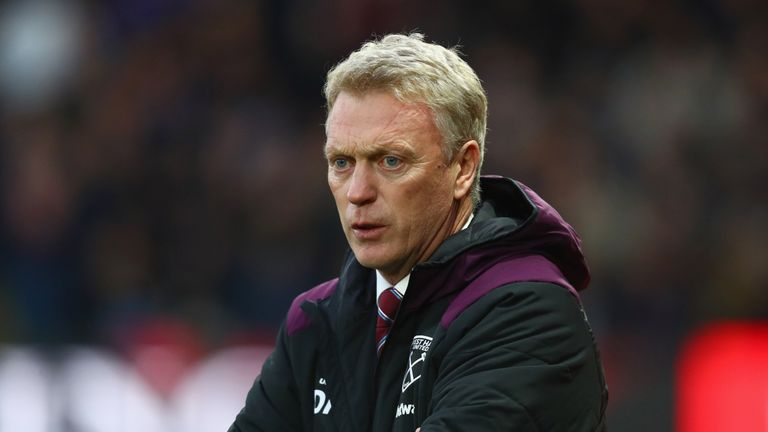 David Moyes, manager of West Ham United looks on prior to the Premier League match at Watford