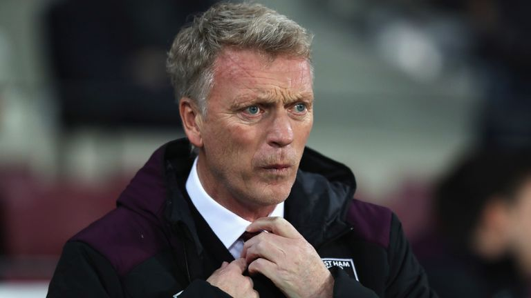LONDON, ENGLAND - NOVEMBER 24:  David Moyes, Manager of West Ham United looks on prior to the Premier League match between West Ham United and Leicester Ci