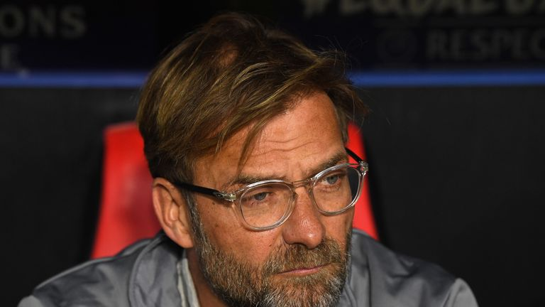 SEVILLE, SPAIN - NOVEMBER 21:  Jurgen Klopp, Manager of Liverpool looks on during the UEFA Champions League group E match between Sevilla FC and Liverpool