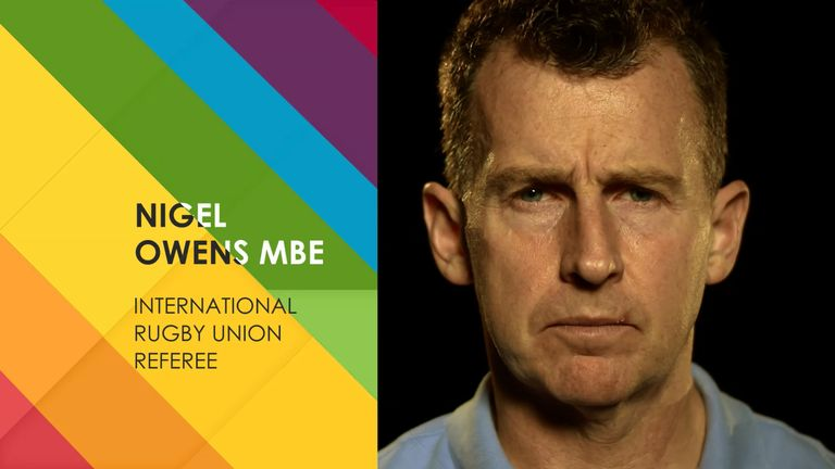 Nigel Owens, My Icon, Sky Sports, Rainbow Laces