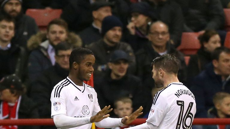 Fulham's Ryan Sessegnon (left) celebrates after putting the Cottagers 3-2 ahead
