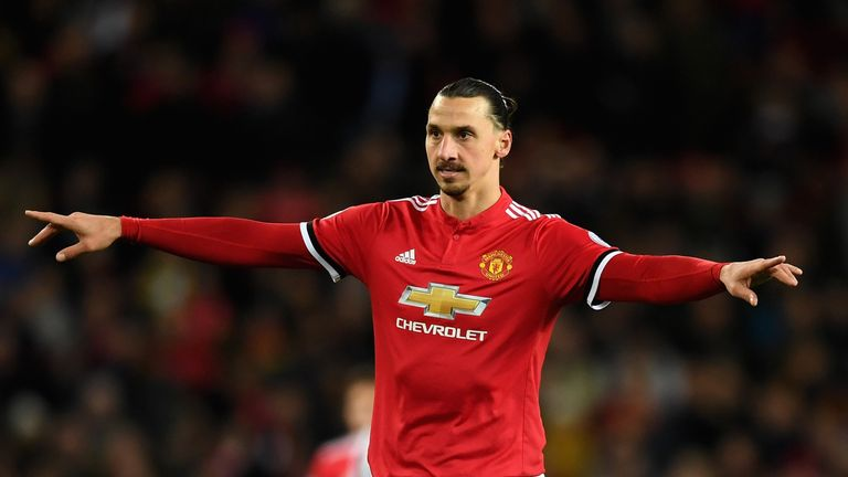 MANCHESTER, ENGLAND - NOVEMBER 18:  Zlatan Ibrahimovic of Manchester United reacts during the Premier League match between Manchester United and Newcastle