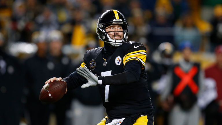 Ben Roethlisberger threw for more than 500 yards for the Steelers in the win over the Ravens