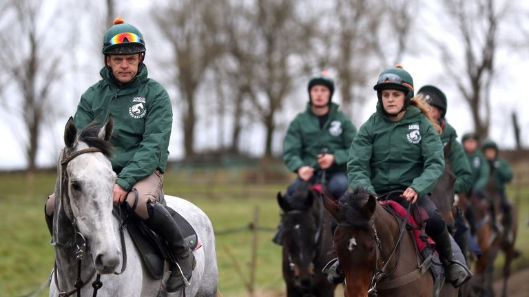 Blaklion (right): Tops field for the Becher Chase