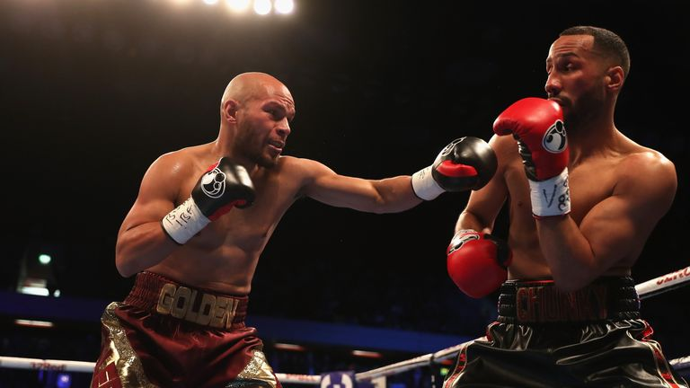 James DeGale (R) lost his IBF super-middleweight title late last year in a shock defeat against Caleb Truax