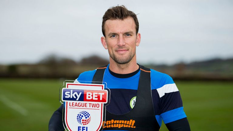 Christian Doidge of Forest Green Rovers wins the Sky Bet League Two Player of the Month award