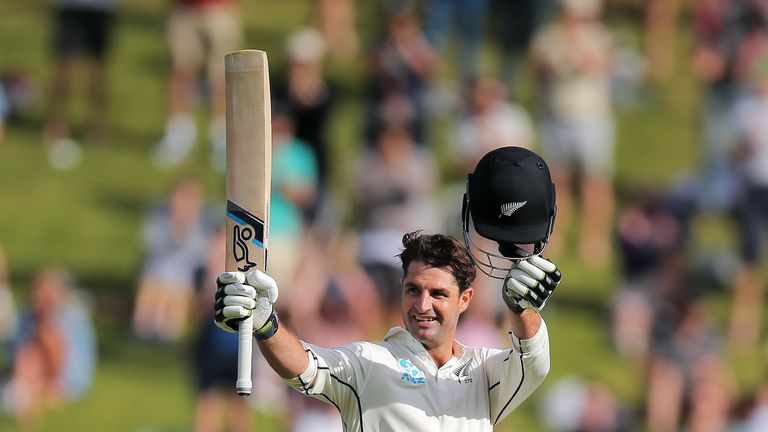 Colin de Grandhomme smashed a quick-fire ton for New Zealand against Windies