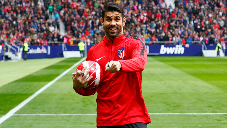 Atletico madrid officially unveil diego costa following chelsea i want to thank the club for all the hard work they did to be able to bring me back from the heart thank you voltagebd Image collections