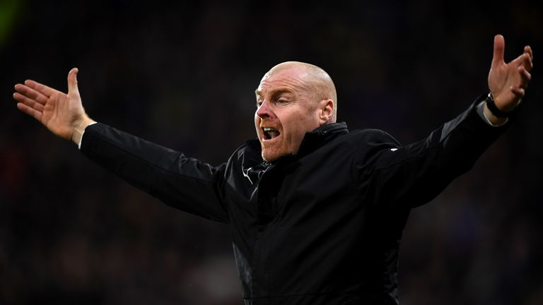 Sean Dyche was unhappy that his side were not awarded a penalty